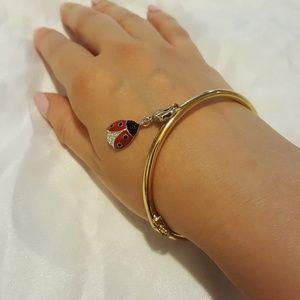 {Kate Spade} 14k gold plated hinge bangle